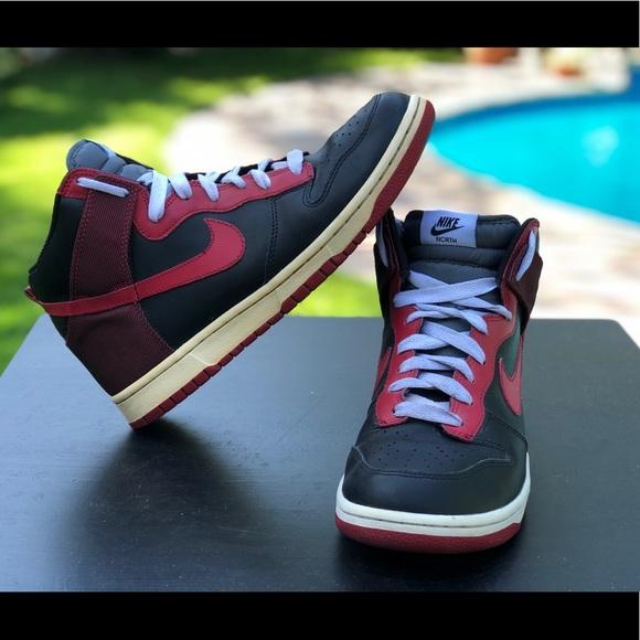 big sale 18341 f290b Nike Dunk High North Black/varsity Red